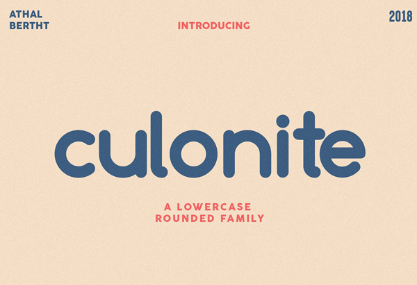 Culonite Rounded Free Font