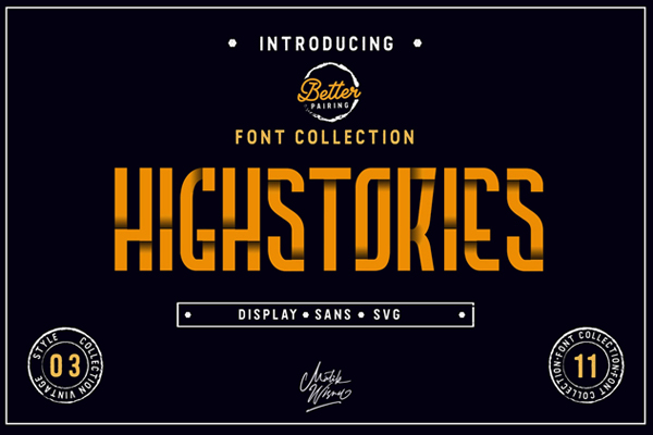 Highstories Family - Extra SVG Free Font
