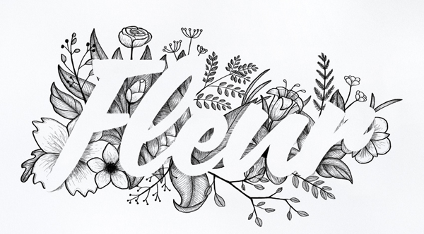 How to Create Floral Typography With Ink