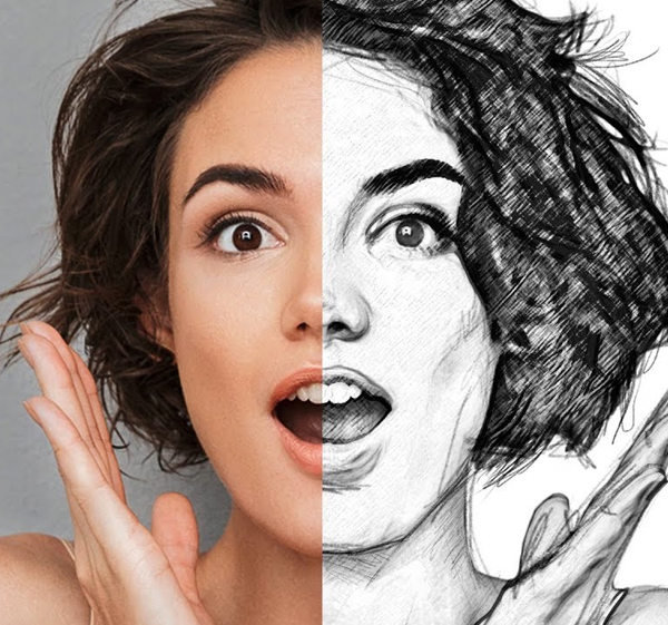 Create a Pencil Drawing From a Photo In Photoshop