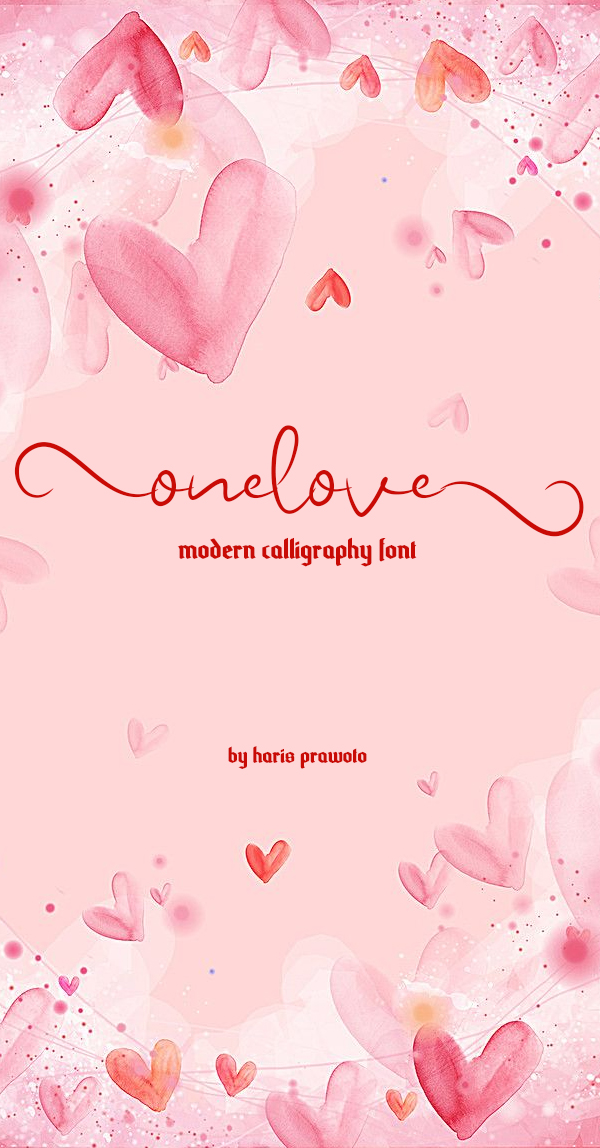 Onelove Calligraphy Script Free Font