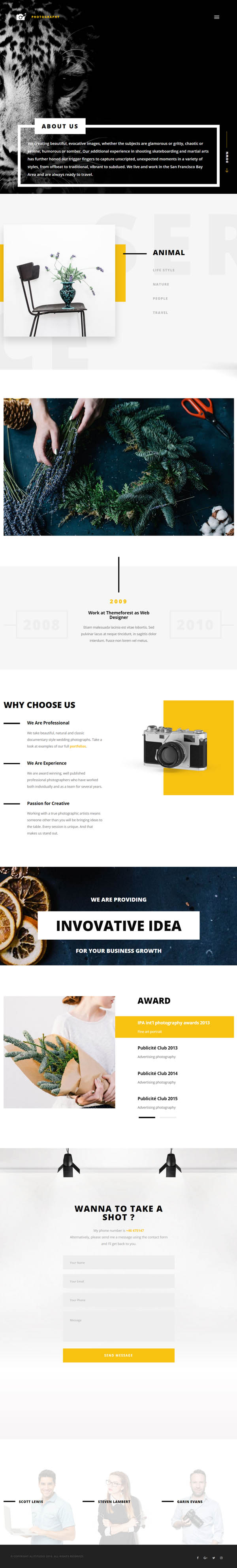 Cephenus – Photography, Portfolio & Gallery WordPress Theme