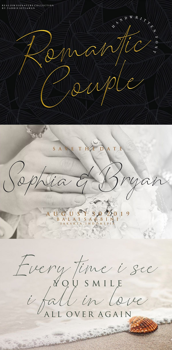 Romantic Couple Signature Free Font