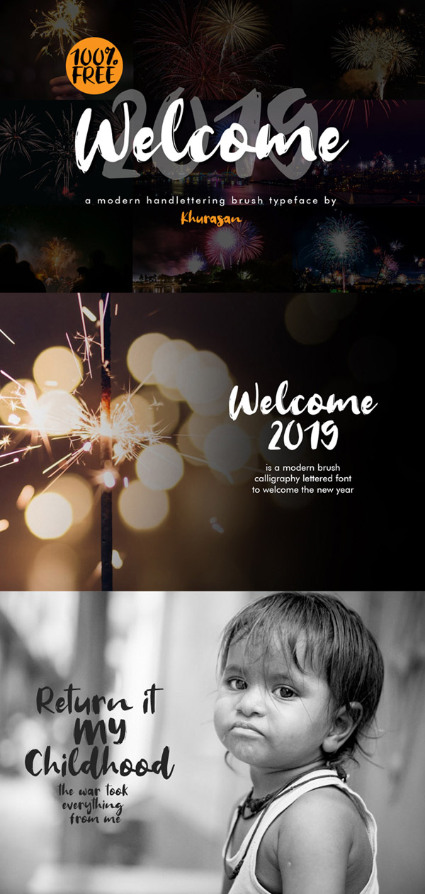 Welcome 2019 Font Free Font