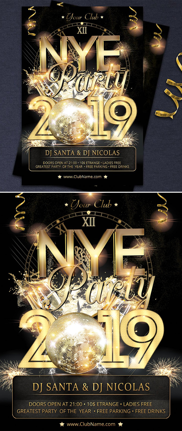 New Year Party Flyer And Poster