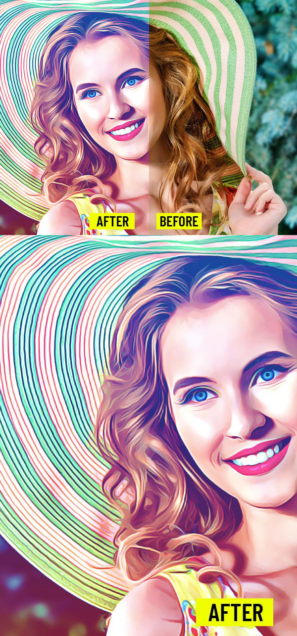 Freebies for 2019: Free Realistic Painting Photoshop Action