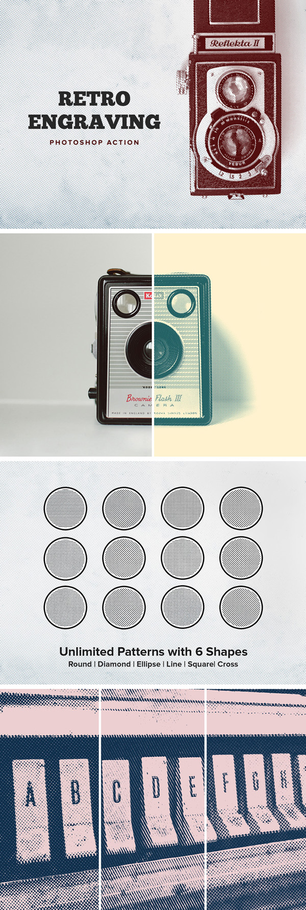 Freebies for 2019: Free Retro Engraving Photoshop Action