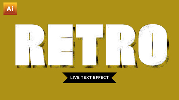 How To Create an Editable Retro Text Effect in Adobe Illustrator