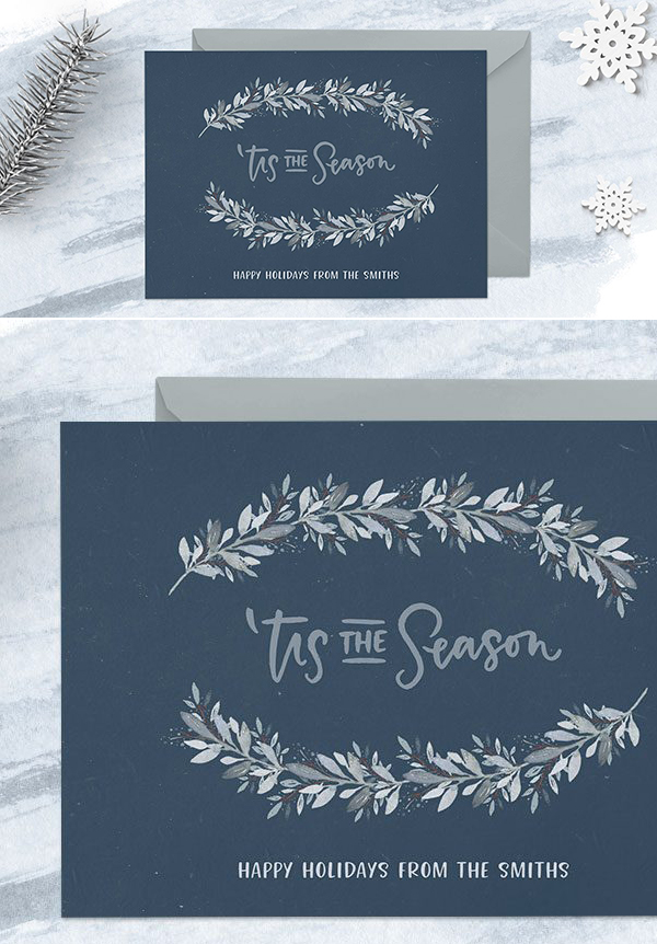 How to Create a Winter Watercolor Holiday Postcard