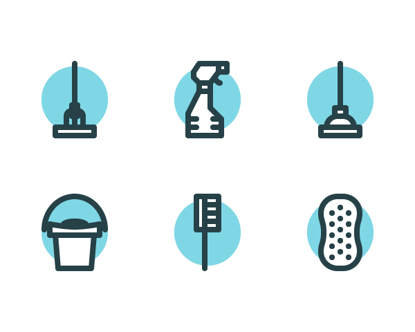 How to Create a Set of Cleaning Icons in Adobe Illustrator