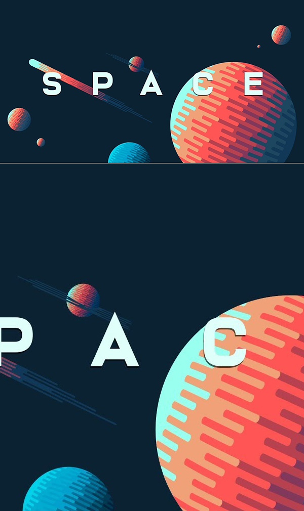 How to Create Space Illustration Background in Adobe Illustrator Tutorial