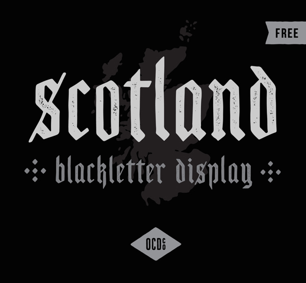 Scotland Display Free Font