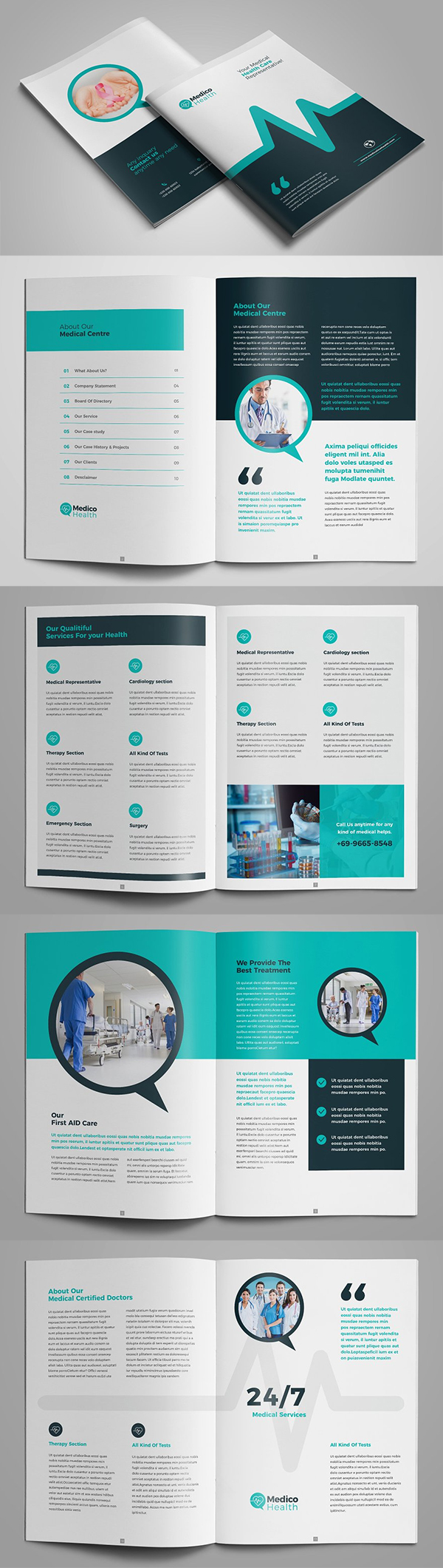 Medical Clinic Healthcare Brochure