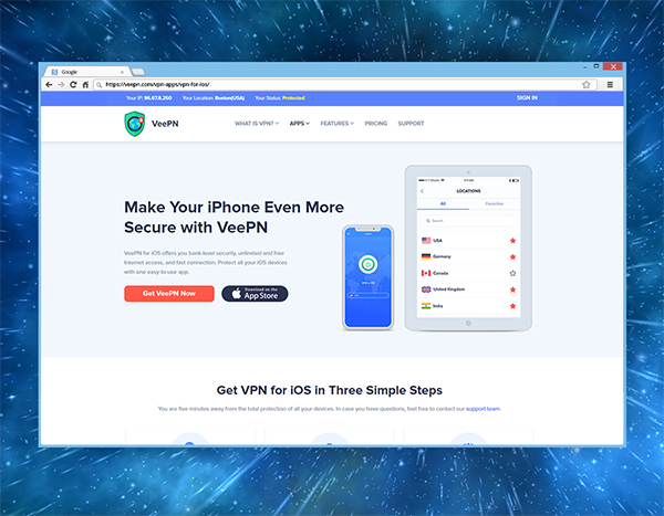 Get VeePN on your iOS Device