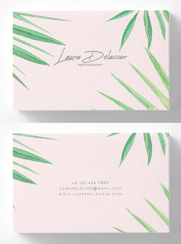 Pink Exotic Business Card