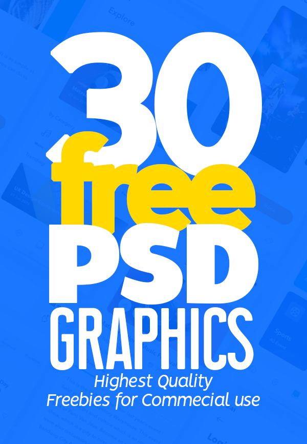Free PSD Files: Download 30 Fresh Free PSD Graphics for Amazing UI/UX