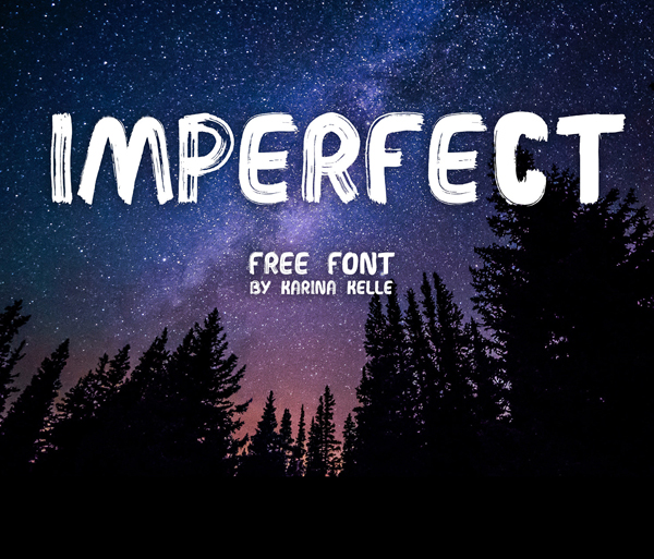 IMPERFECT  Handwritten Brush Free Font