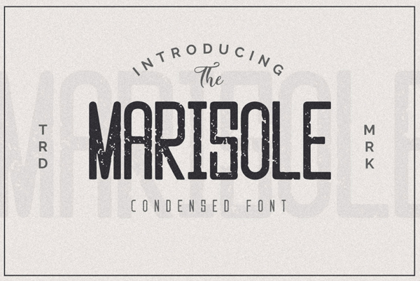 Marisole Vintage Textured Free Font