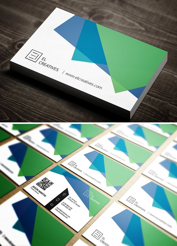 Creative Multi Color Business Card