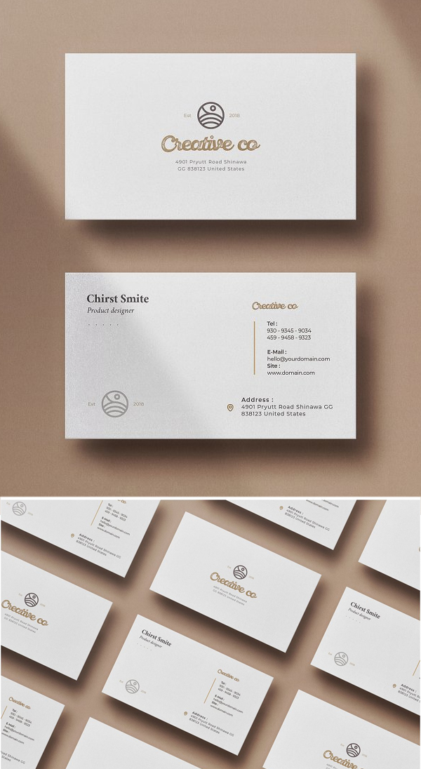 Creative Minimal Business Card