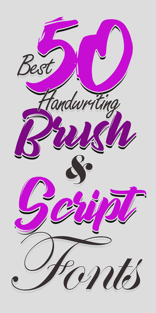 50 Best Professional Handwriting Brush and Script Fonts