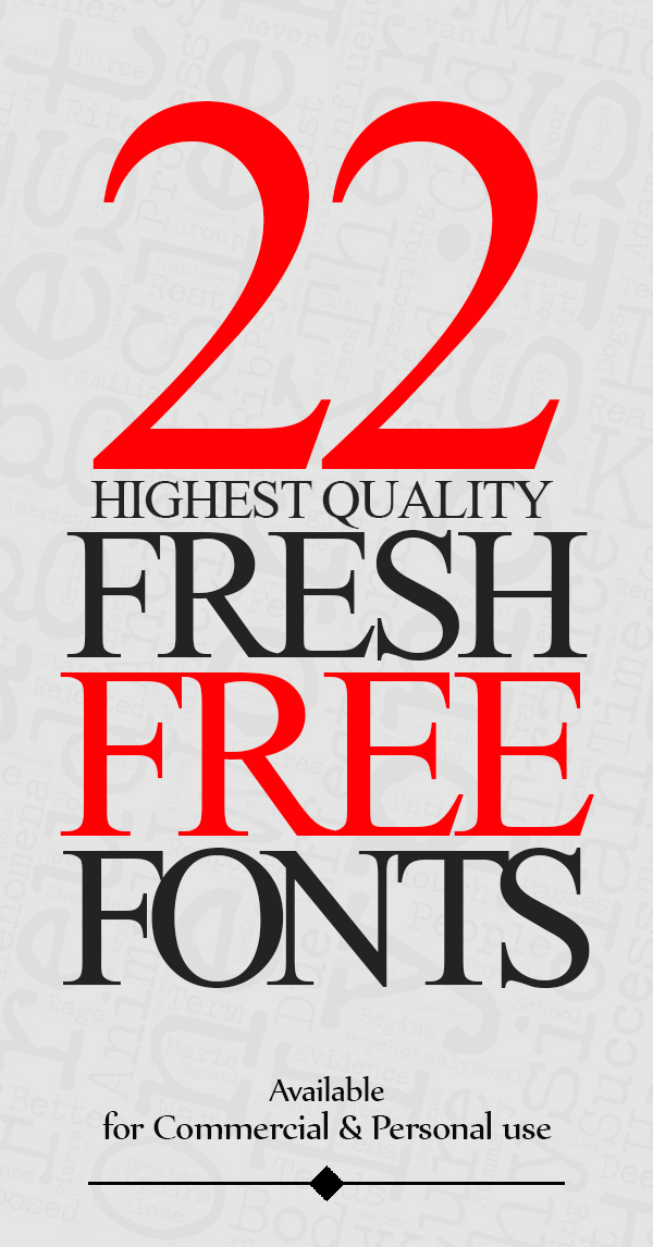 22 Fresh Free Fonts for Graphic Designers