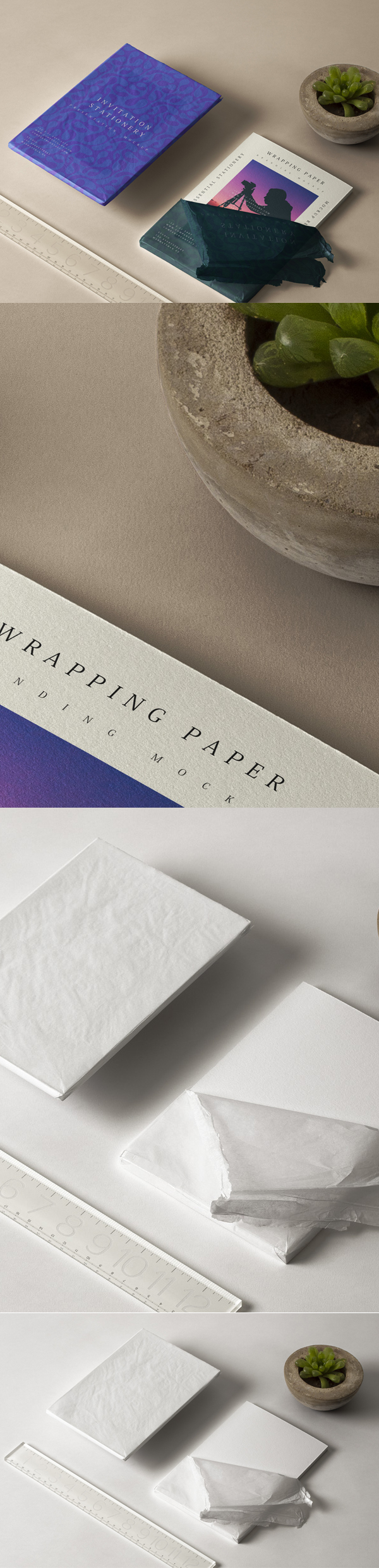 Free Invitation Stationery Mockup Template