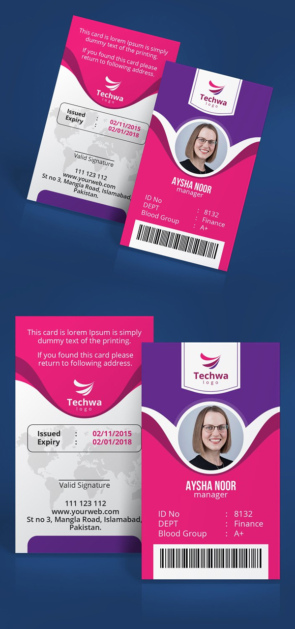 Professional Office ID Card Design
