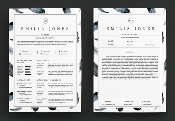 Feather Resume Template