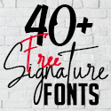 Post thumbnail of 40+ Best Free Signature Fonts for Designers