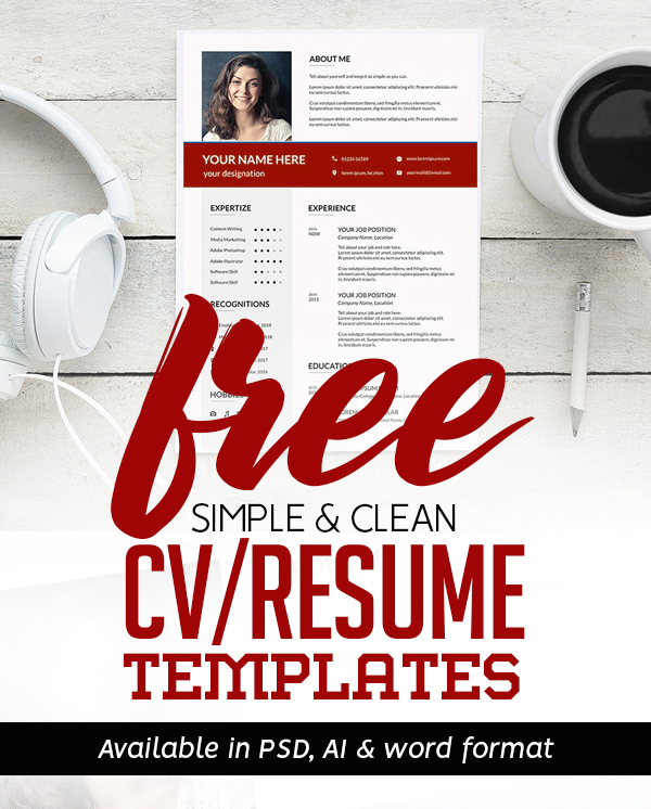 21 New Free Professional CV / Resume Templates