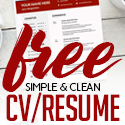 Post thumbnail of 21 New Free Professional CV / Resume Templates
