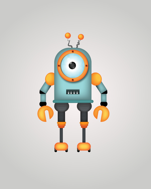 How to Draw a Robot Character in Adobe Illustrator Tutorial