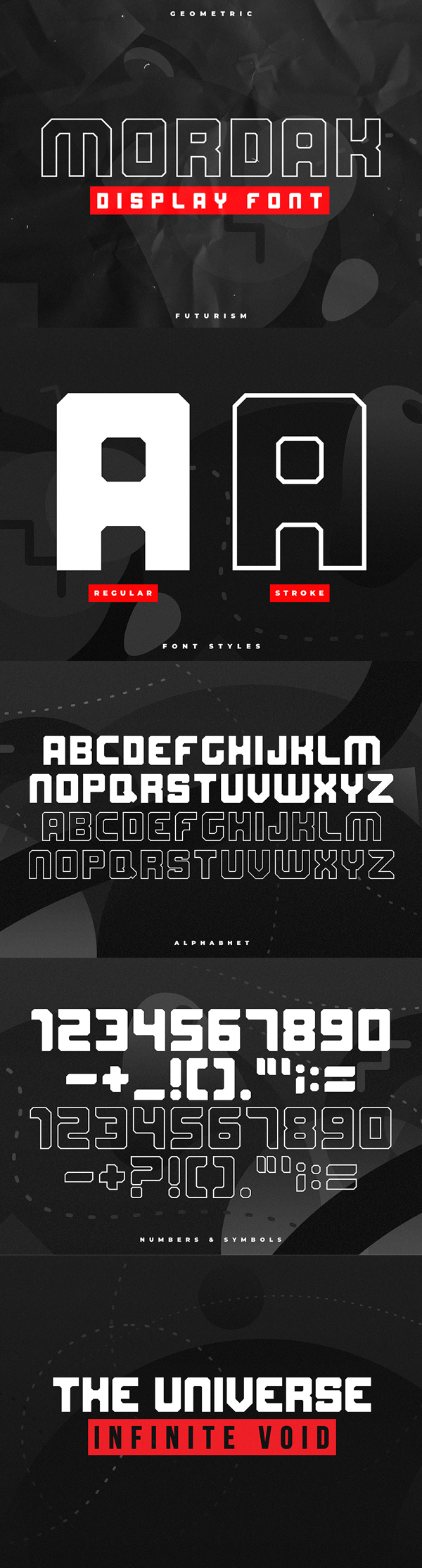 Mordak Display Block Free Font