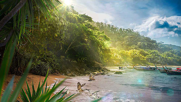 How to Create Beautiful Tropical Landscape in Photoshop Tutorial
