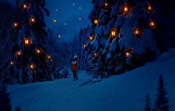 How to Create a Glowing Winter Night Photo Manipulation in Adobe Photoshop