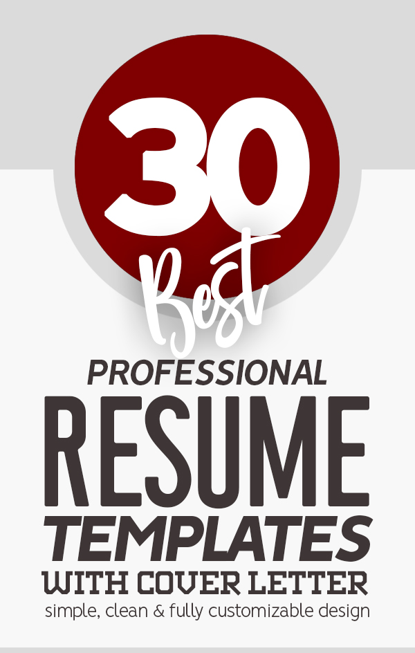 30 Professional CV / Resume Templates with Cover Letters