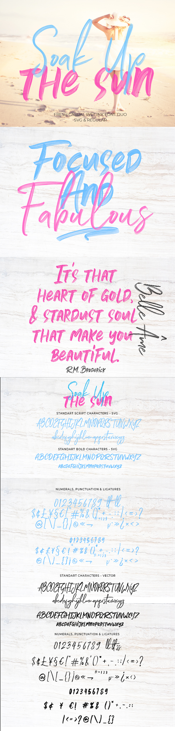 Soak Up The Sun Font Duo + SVG Free Font