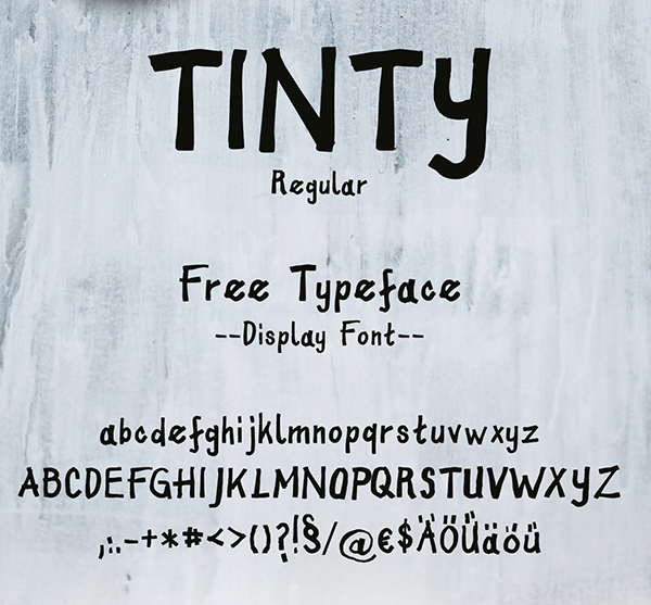 Tinty Font Letters