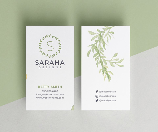 Saraha - Minimal Business Card