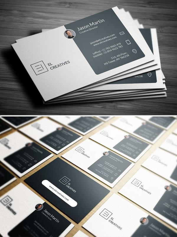 Dark Blue Corporate Business Card