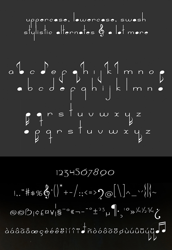 Nada Free Font Letters