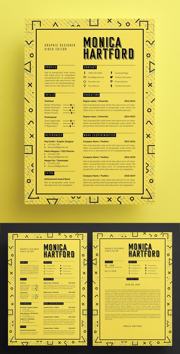 Retro Resume Template / Cover letter
