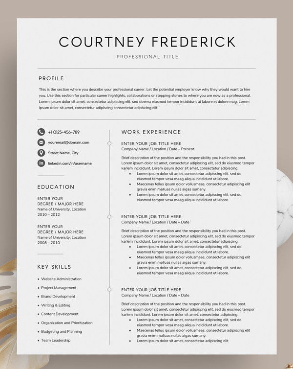 Resume/CV - The Courtney
