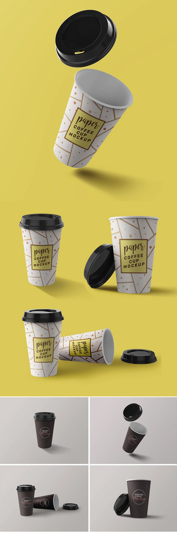Free Coffee Cup Mockups Kit