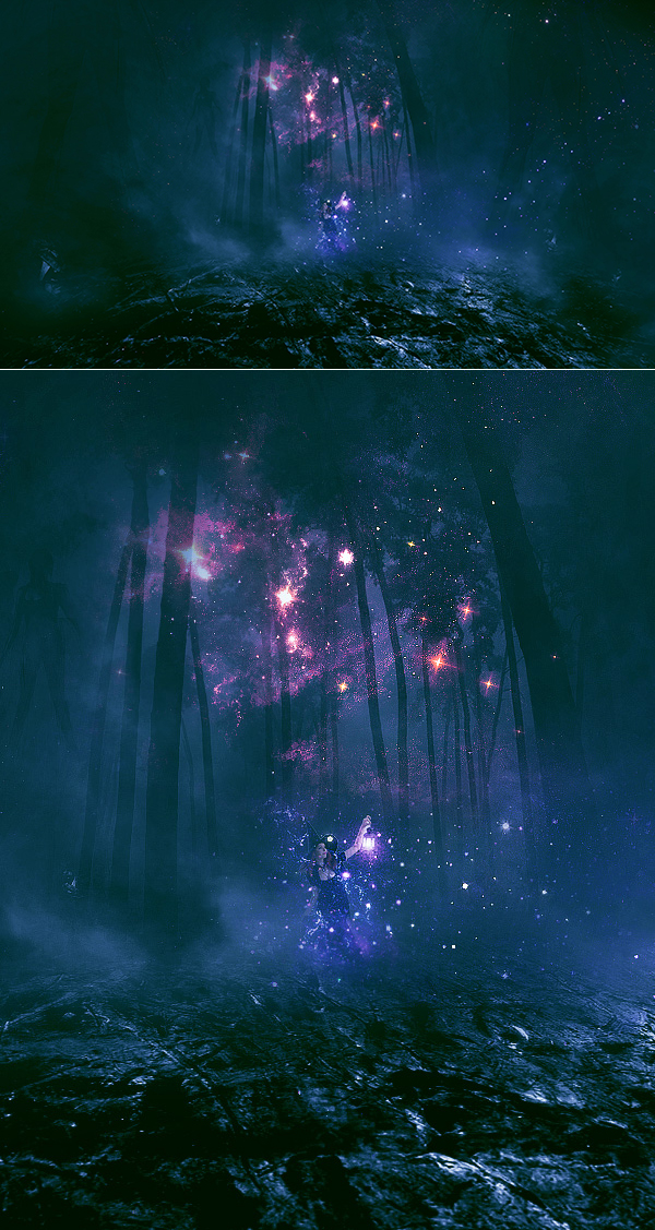 Create Summon the Forest Spirits Digital Art in Photoshop Tutorial
