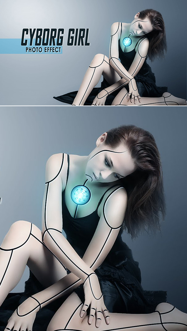 How To Make Cyborg Effect In Photoshop Tutorial