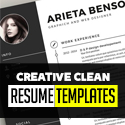 Post thumbnail of 30 Creative Clean CV / Resume Templates with Cover Letters