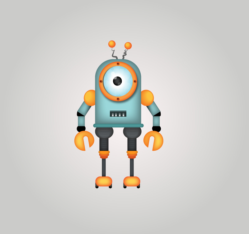 How to Draw a Robot in Adobe Illustrator Tutorial