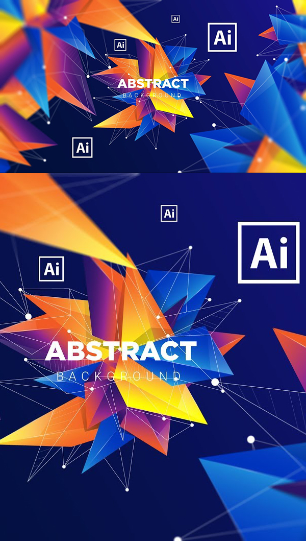 Create Background Abstract Colorful Geometric in Adobe Illustrator